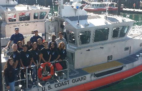 Global Business Students on Day of Discovery Coast Guard Field Trip