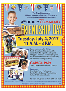 July 4th Celebration at Carson Park! 11am -3 pm